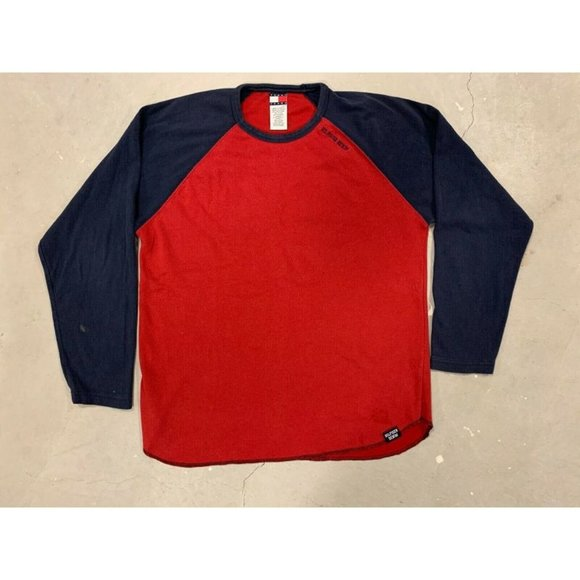 Tommy Hilfiger Red Blue Long Sleeve Sweater Sz L